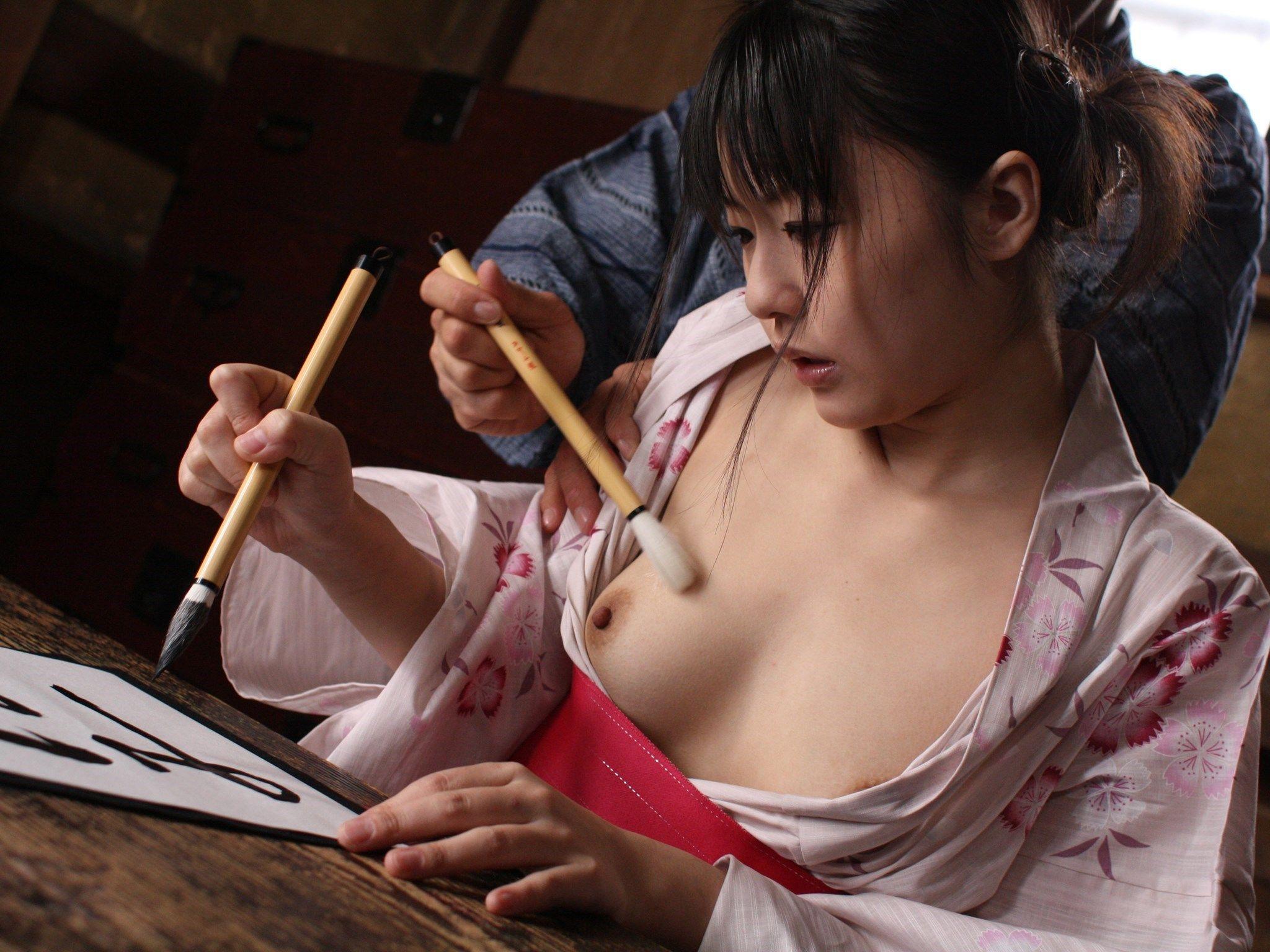 和服少女 つぼみ 壱章 妖艶な筆さばき 114photos